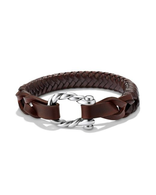 David Yurman - Brown Maritime Woven Leather Bracelet - Lyst