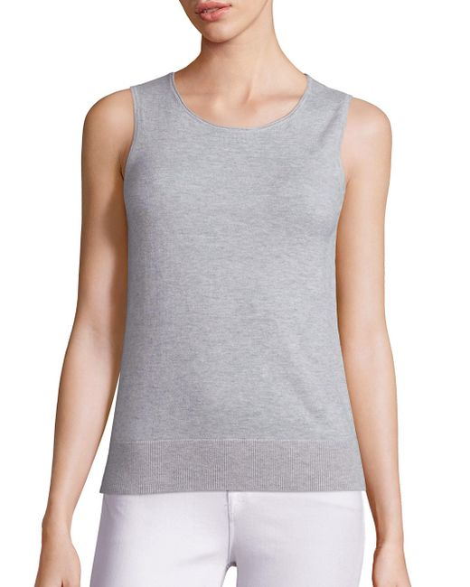 Saks Fifth Avenue | Gray Lightweight Cashmere Shell | Lyst