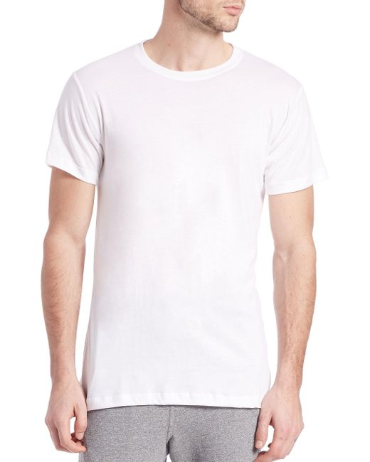 John Elliott - White Classic Crewneck Tee for Men - Lyst