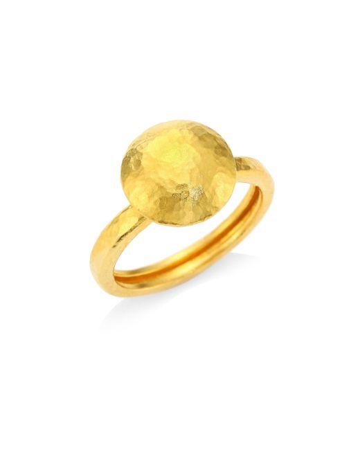 Gurhan - Metallic 24k Gold Dome Ring - Lyst