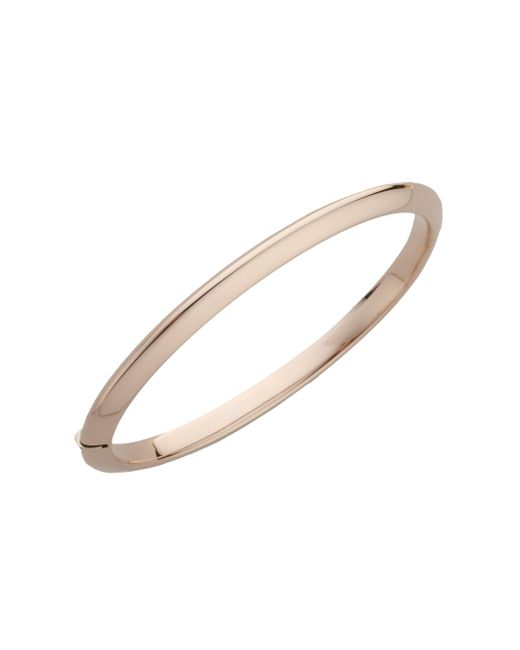 Roberto Coin - Metallic Classica 18k Rose Gold Knife-edge Bangle Bracelet - Lyst