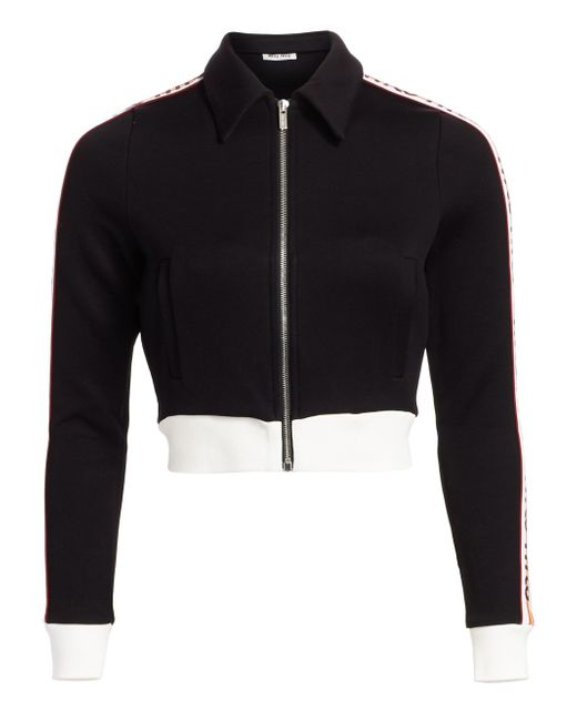 3bd1be690a03 Lyst - Miu Miu Women s Logo Tracksuit Jersey Jacket - Black in Black