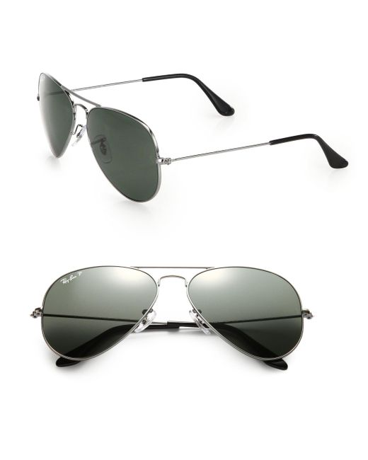 Ray-Ban | Metallic 58mm Aviator Sunglasses for Men | Lyst