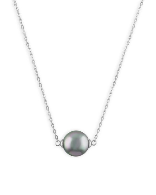 Majorica | Gray 10mm Grey Pearl & Sterling Silver Pendant Necklace | Lyst