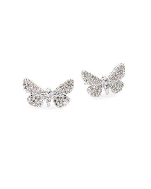 Astley Clarke - Multicolor Cinnabar Moth Grey Diamond Stud Earrings - Lyst