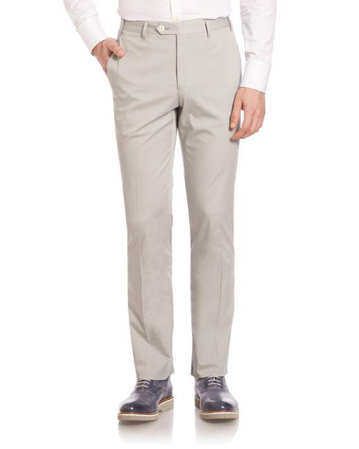 Corneliani   Gray Slim-fit Dress Pants for Men   Lyst