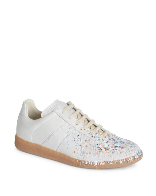 Maison Margiela - White Replica Splatter Paint Sneakers for Men - Lyst