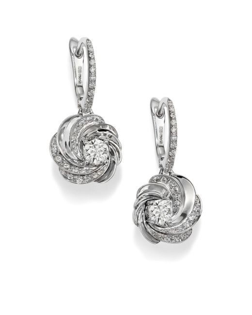 De Beers - Metallic Aria Diamond & 18k White Gold Sleeper Drop Earrings - Lyst