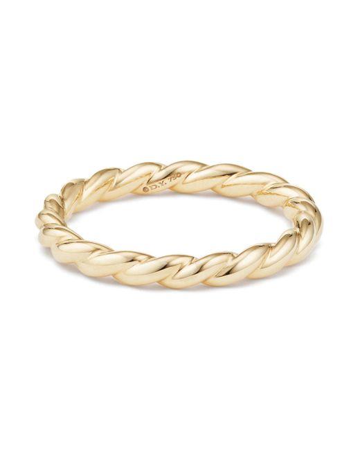 David Yurman - Metallic 18k Gold Petite Paveflex Ring - Lyst