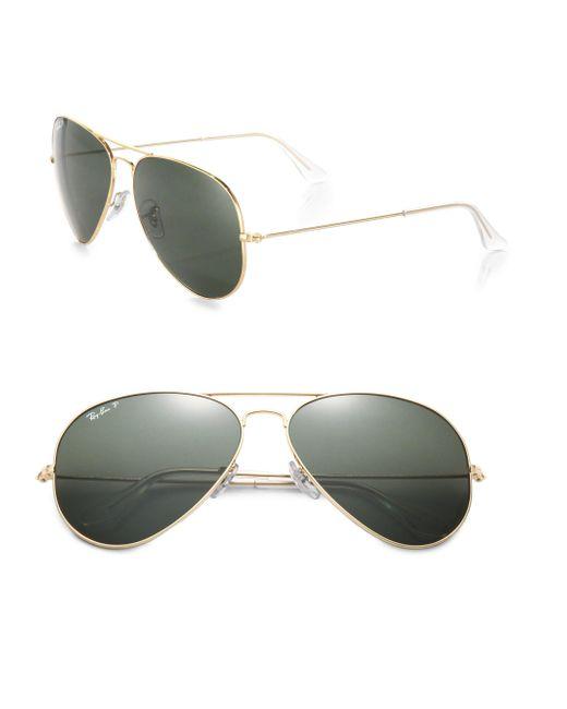 Ray-Ban - Metallic 62mm Polarized Original Aviator Sunglasses for Men - Lyst