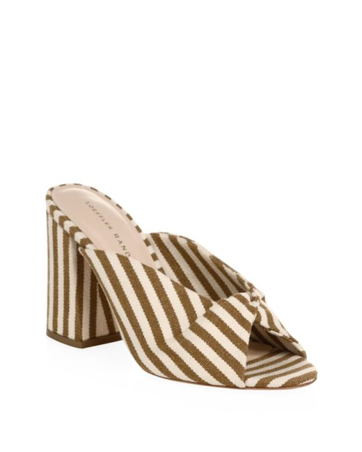 Loeffler Randall - Multicolor Laurel Striped Mules - Lyst