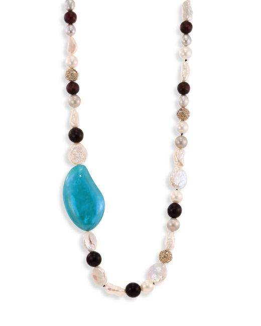 Alexis Bittar | Blue Opalescent Lucite Liquid Silk Strand Necklace/42 | Lyst