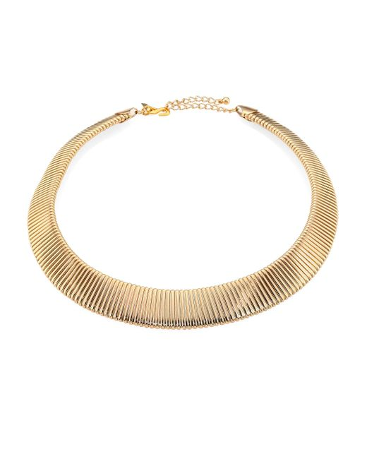 Kenneth Jay Lane | Metallic Graduated Snake-ribbed Collar Necklace | Lyst