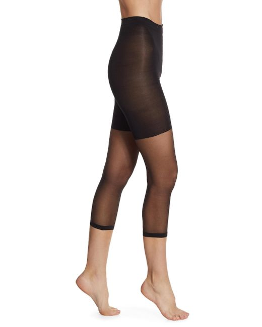 Spanx - Black Super Footless Shaper- 911 - Lyst