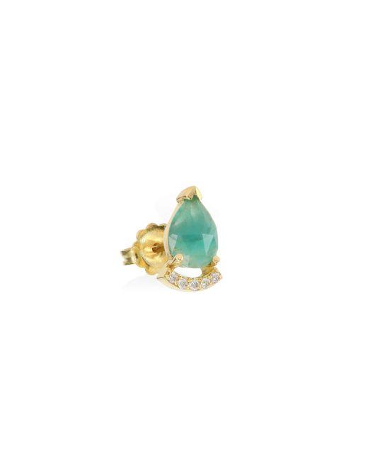 Paige Novick | Metallic Tplt Diamond, Emerald & 18k Yellow Gold Single Stud Earring | Lyst