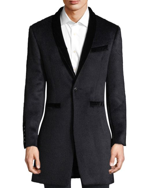 John Varvatos - Black Classic Shawl Collar Coat for Men - Lyst