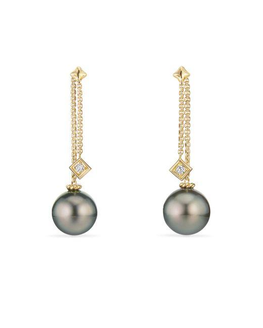 David Yurman | Metallic Solari Drop Earrings In 18k Gold With Diamonds | Lyst