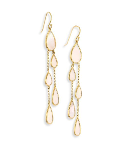 Ippolita   Metallic 18k Polished Rock Candy Mother-of-pearl Drop Earrings   Lyst