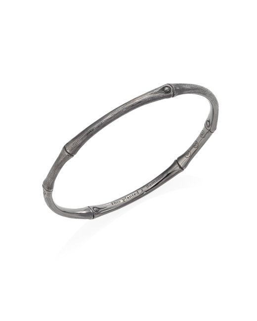 John Hardy | Metallic Bamboo Sterling Silver Bangle Bracelet | Lyst
