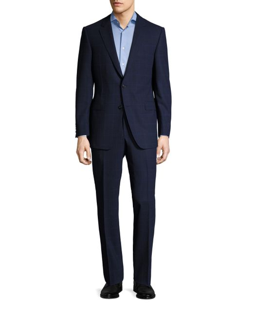 Saks Fifth Avenue   Blue Samuelsohn Classic-fit Wool Suit for Men   Lyst