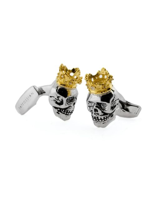 Tateossian | Metallic King Skull Cuff Links for Men | Lyst