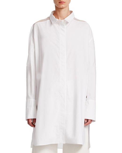 Gentry Portofino - White Long Cotton Tunic - Lyst