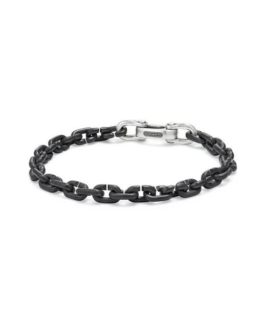David Yurman - Black Titanium And Sterling Silver Link Chain Bracelet for Men - Lyst