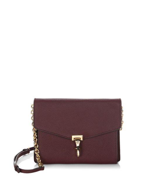 Burberry - Purple Macken Leather Crossbody Bag - Lyst