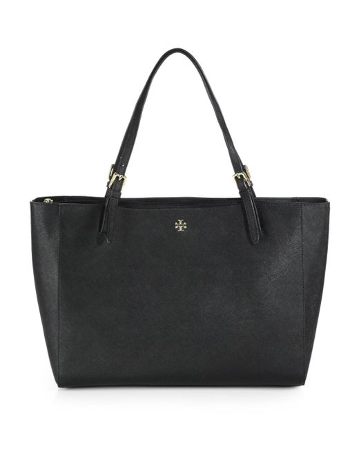 Tory Burch | Black York Buckle Tote | Lyst