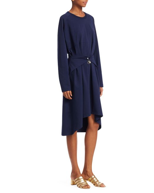 Carven - Blue Tie Waist Dress - Lyst