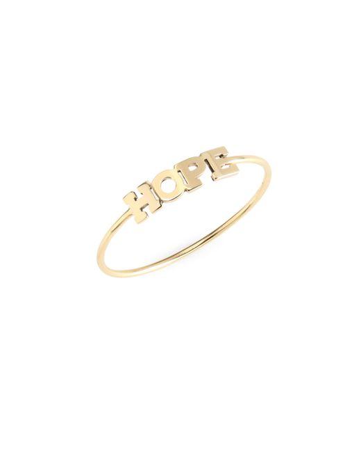 Zoe Chicco - Metallic Hope 14k Yellow Gold Ring - Lyst