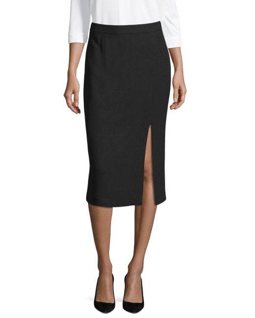 BOSS - Black Classic Pencil Skirt - Lyst