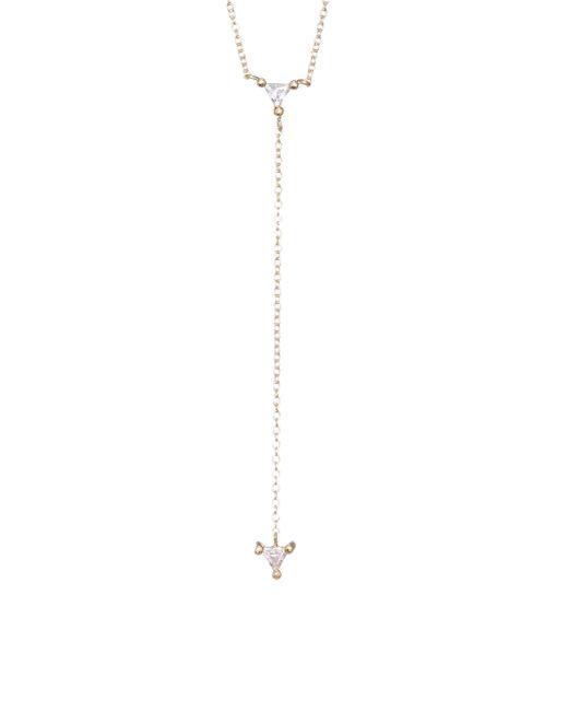 Jennifer Zeuner - Metallic Ava Mini Lariat Necklace - Lyst