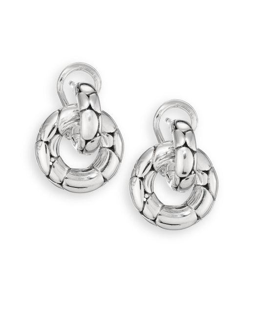 John Hardy - Metallic Kali Sterling Silver Small Doorknocker Earrings - Lyst