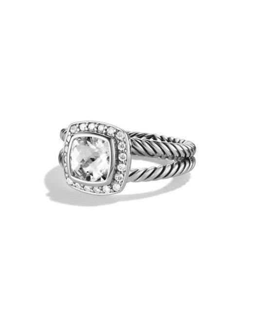 David Yurman | White Petite Albion Ring With Diamonds | Lyst