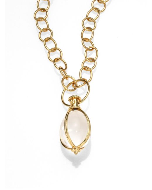 Temple St. Clair - Metallic Women's Classic Rock Crystal & 18k Yellow Gold Amulet - Gold - Lyst