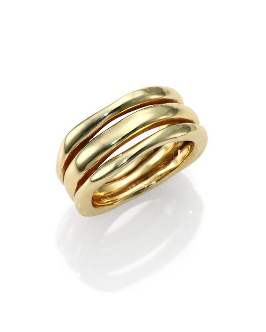 Ippolita - Metallic Glamazon 18k Yellow Gold Triple-row Squiggle Ring - Lyst