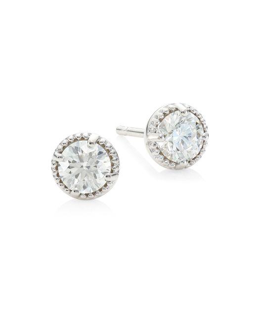 Hearts On Fire - Metallic Diamond & 18k White Gold Earrings - Lyst