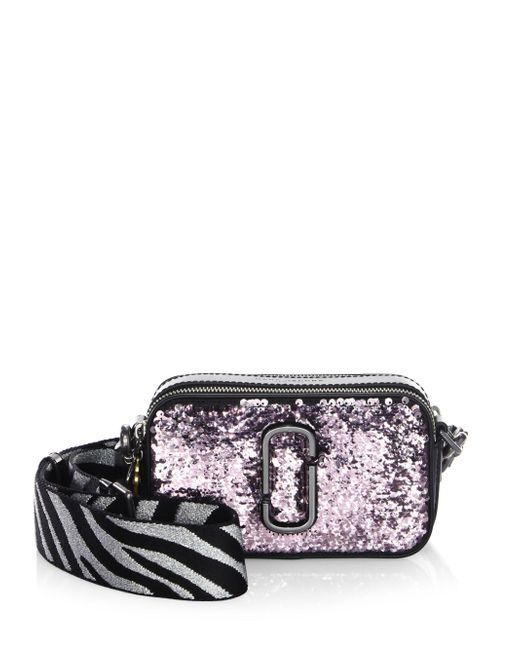 Marc Jacobs | Multicolor Snapshot Gunmetal Leather Crossbody Bag | Lyst