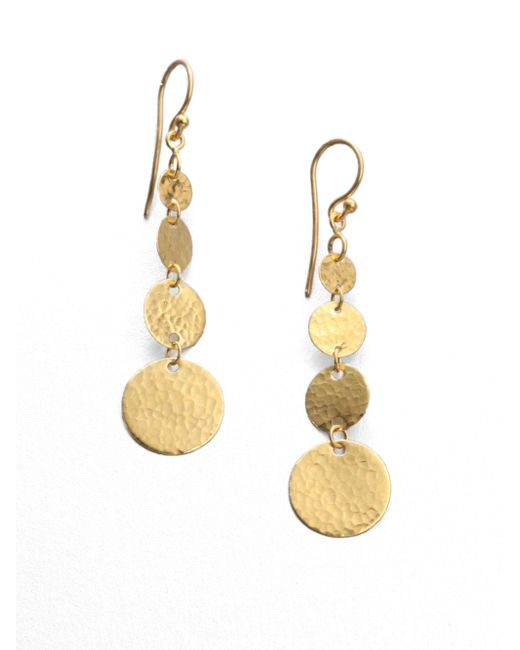 Gurhan | Metallic Lush 24k Yellow Gold Flake Drop Earrings | Lyst