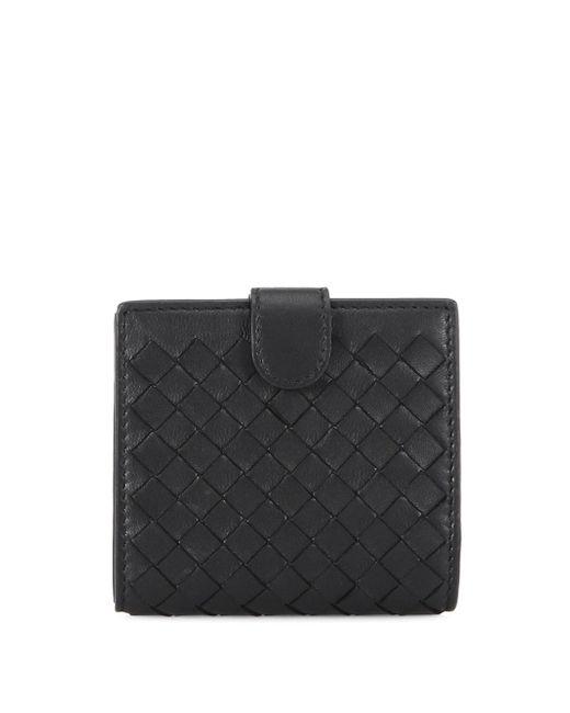 Intrecciato Leather Flap Wallet Bottega Veneta HFBop