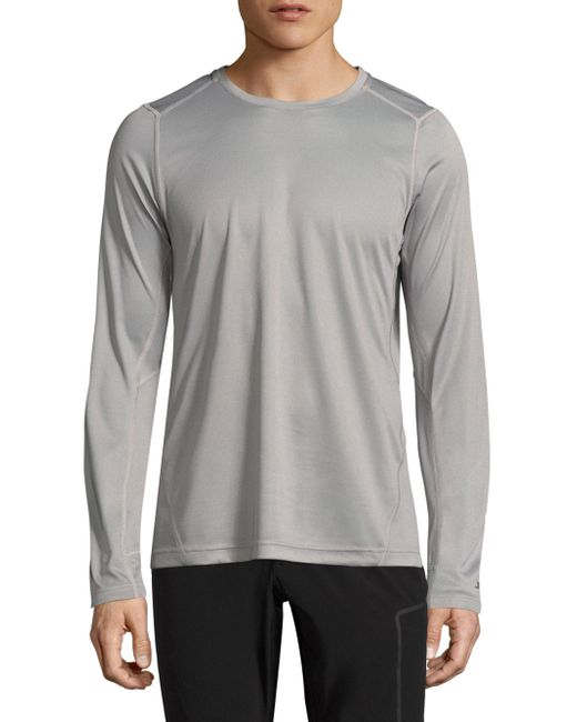 J.Lindeberg | Gray Active Long Sleeve Tee for Men | Lyst