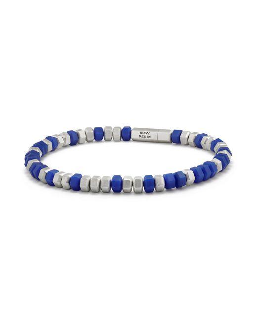 David Yurman - Blue Hex Sterling Silver Beaded Bracelet - Lyst