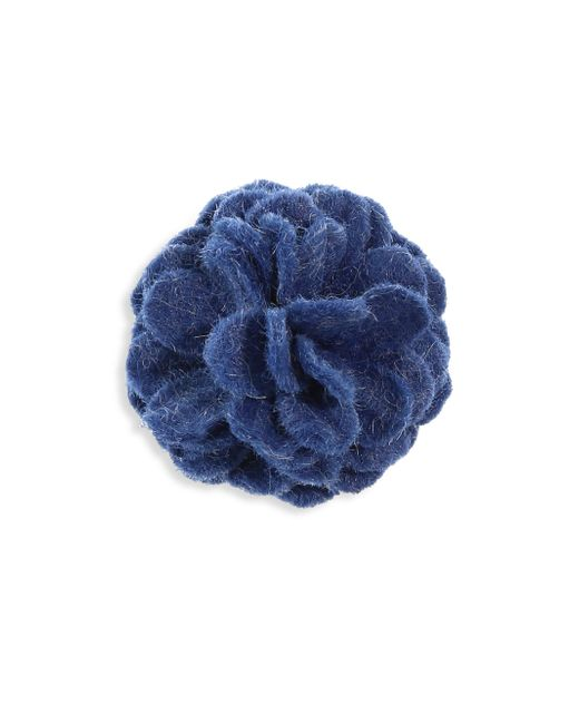 Hook + Albert | Blue Charbon Lapel Flower | Lyst