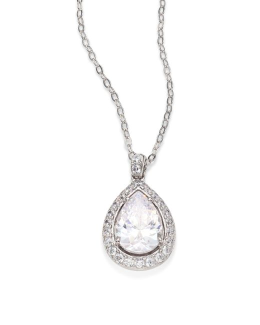 Adriana Orsini | Metallic Crystal Pear Pendant Necklace | Lyst