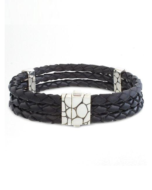 John Hardy - Metallic Kali Woven Leather Bracelet for Men - Lyst