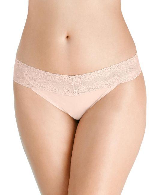 Natori | Natural Bliss Perfection Thongs | Lyst