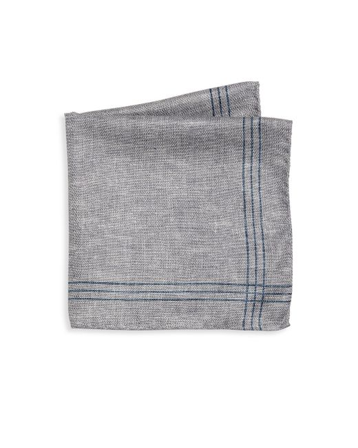 Saks Fifth Avenue - Gray Collection Striped Double-faced Pocket Square for Men - Lyst