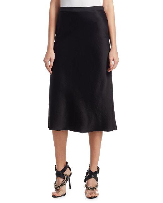 T By Alexander Wang   Black A-line Midi Skirt   Lyst