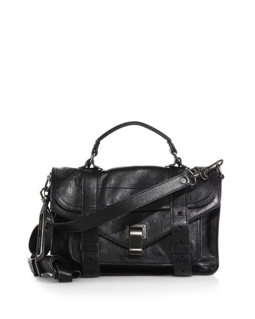 Proenza Schouler - Black Ps1 Tiny Leather Satchel - Lyst